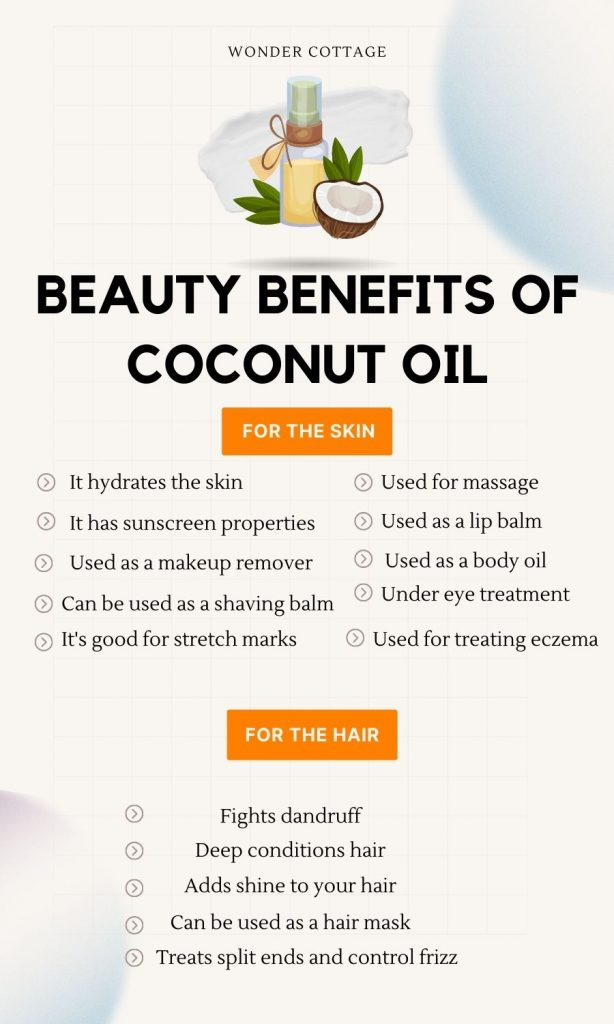 Hair and skin benefits of coconut oil