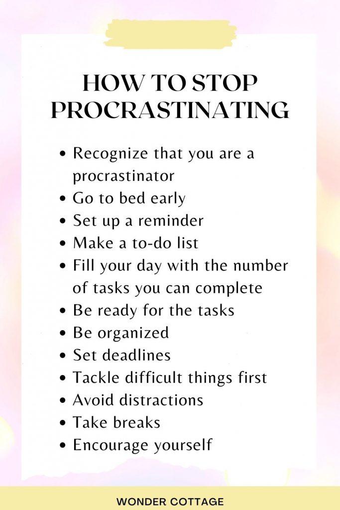 12 easy tips to beat procrastination